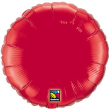 "Red Round Foil Balloon (36"") 1pc"